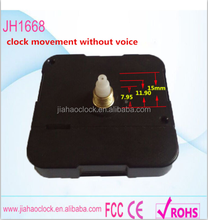 Quartz plastic silent clock movement for wall clock