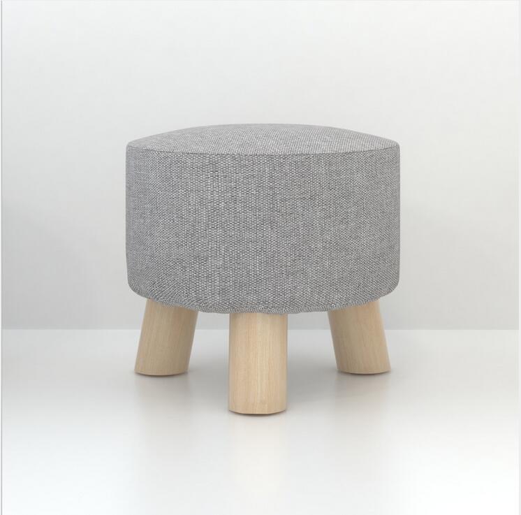 Solid Wood Footstools Home Simple Art