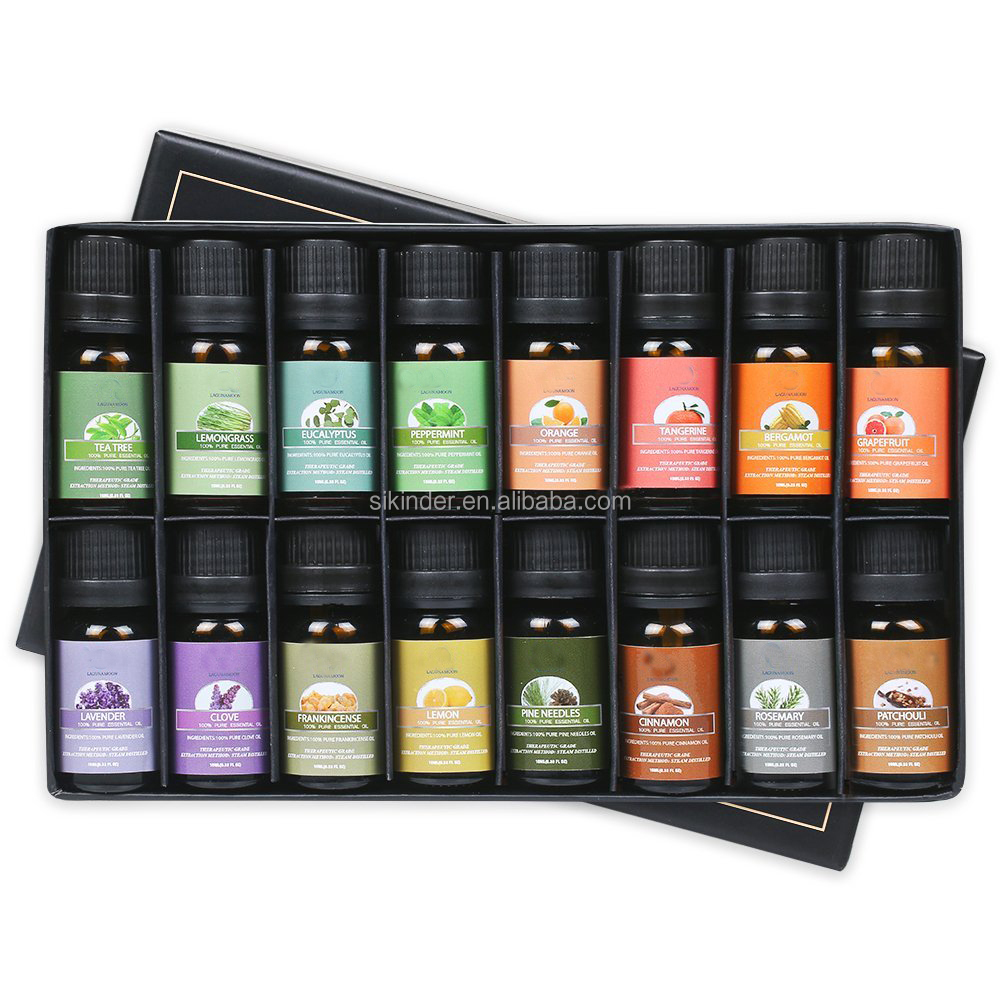 Essential Oils Premium Aromatherapy Oils Gift Set of 16- Peppermint Lemon Lavender Tea Tree Eucalyptus Rosemary Patchouli <strong>Orange</strong>