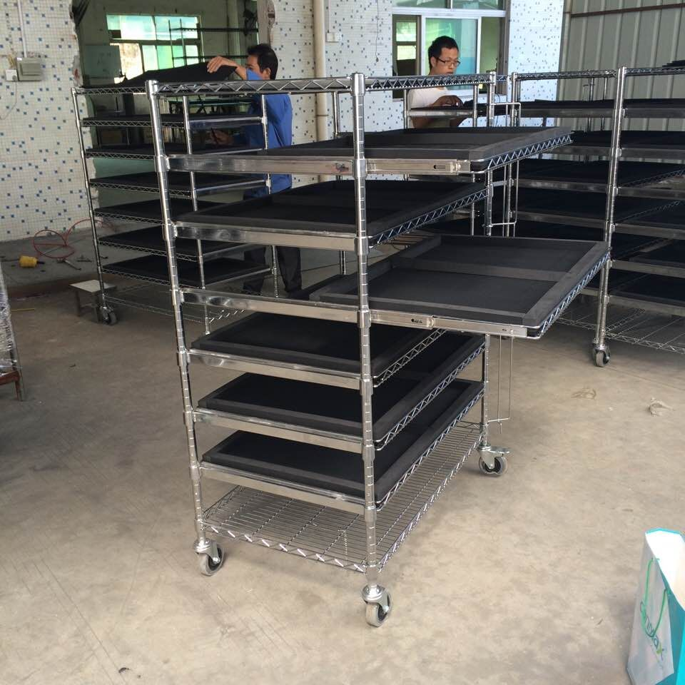 Sliding wire shelving cart, View basket cart, YING GUANG Product ...