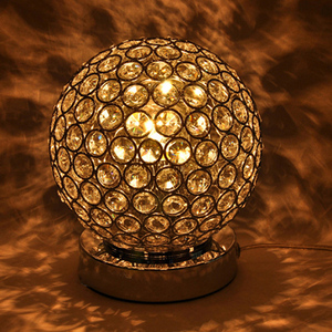 High quality globe shape chandelier crystal for bedside table