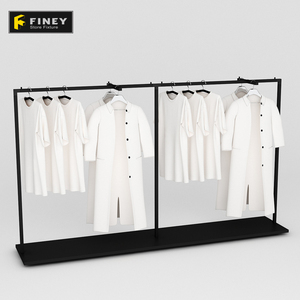 Metal Hanging Clothes Mens T Shirt Suit Display Racks For Shop