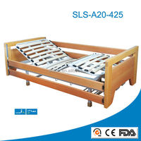 electric wooden frame medical old people nursing bed, multi-function hospital bed, wooden hospital bed