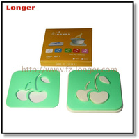 2016 competitive price custom private brand leather square tea cup mat drink coasters