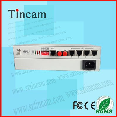 TBC 4 E1+100M Fiber Optic Multiplexer