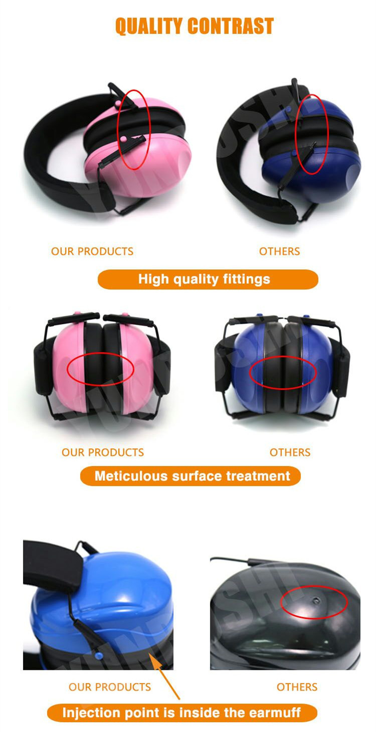 Sound Proof Custom foldable Plastic earmuffs