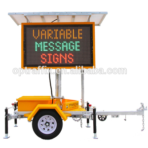 Solar Power Moving Outdoor Advertising LED Display Screen size B