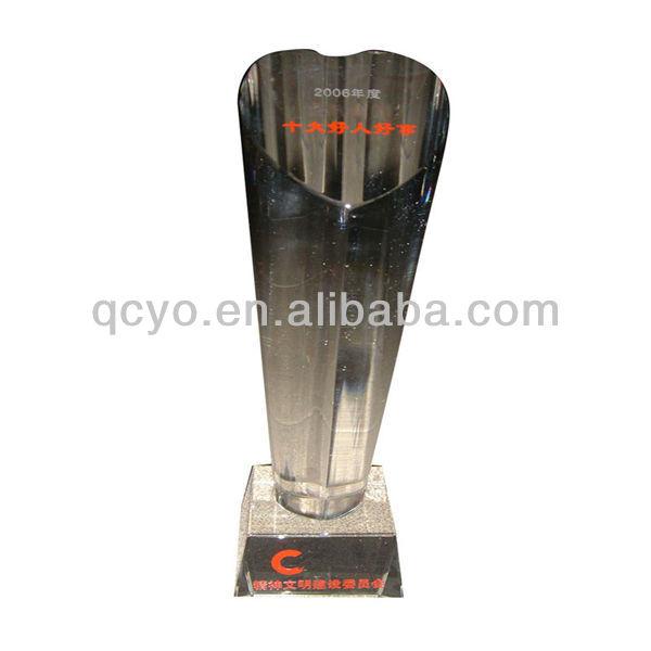Customized acrylic imitation crystal engraved acrylic trophy