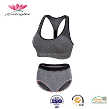 Wholesale custom dry fit sexy ladies seamless sport active wear bra and panty set