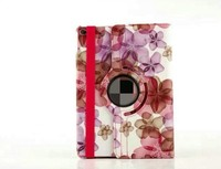 China wholesale Market Multi Colors Peach blossom 360 Degree Rotating Tablet Leather Case Cover Sleeve For Apple iPad 6