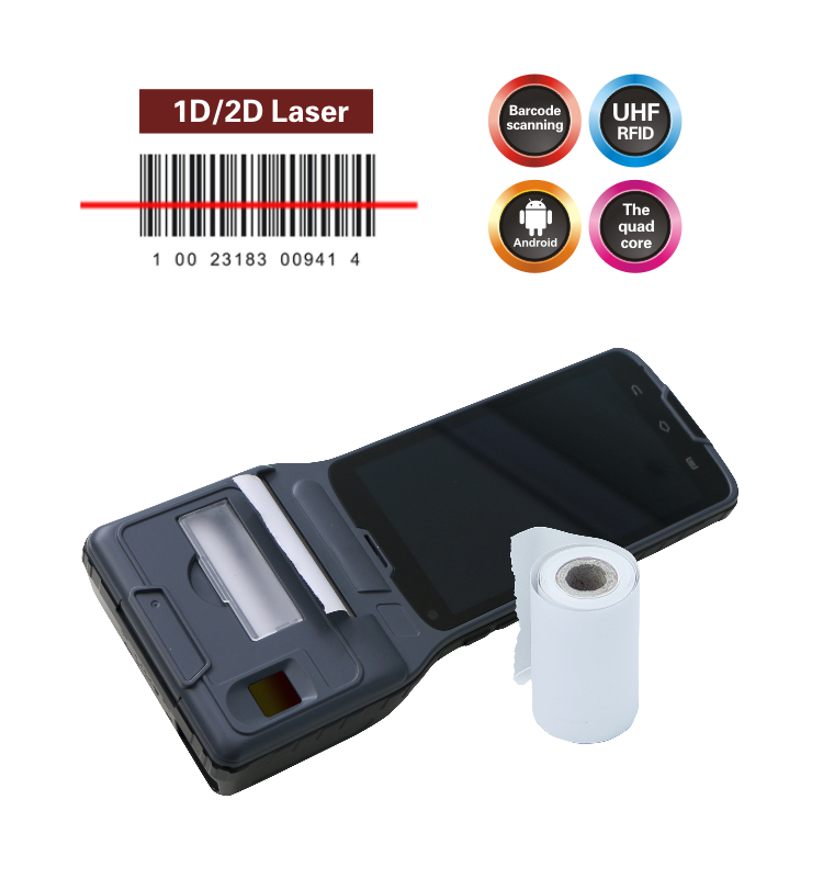 "Android Smart 2""thermal Printer Pda Phone Filled Fingerprint,2d ..."