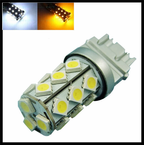 3157 60smd White And Red Switchback Led Bulb Dual Colors Turn ...
