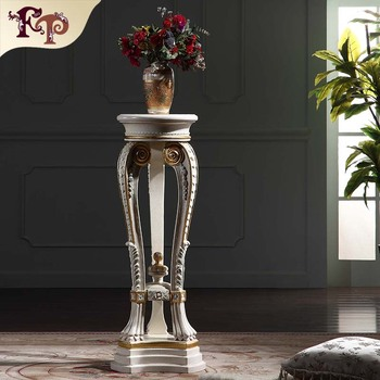 French Baroque Furniture Vase Stand Handwork Gilding Golden Foil