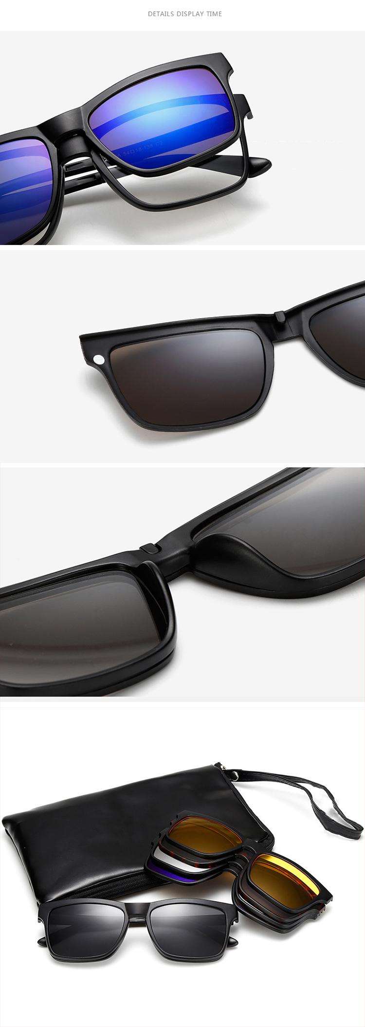 5 Clips Gafas De Conducción Nocturna Tr90 Magnético Fácil Reemplazar ...