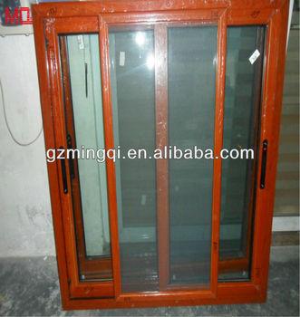 Colore Di Rosso Ciliegia Finestra Scorrevole In Alluminio Con Vetro Modellato Finestre In Alluminio Con Zanzariera Buy Finestre In