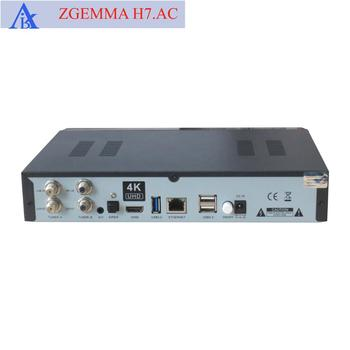 For America/canada Channels Zgemma H7  Ac High Cpu Hevc 4k Uhd Tv Box&sat  Receiver With 2*dvb-s2x+atsc Tuners - Buy Zgemma H7ac Satellite Receiver,4k