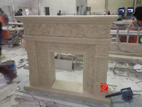Man-Made Flower Large Fireplace Mantel Surrounds