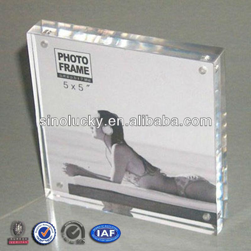 acrylic photo frames 4x6 square clear acrylic magnetic photo frame plexiglass frameless photo frame buy 4x6 square clear acrylic magnetic photo frame