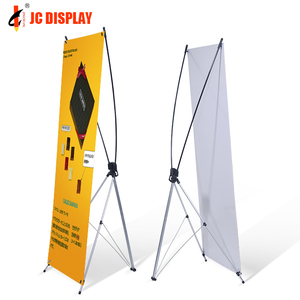 Aluminum made X banner stand for outdoor advertising