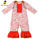 Latest custom design infant long sleeve ruffle romper floral clothes romper cheap price