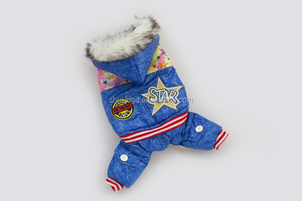 Cold weather clothing for dogs, french bulldog fashion warm pet jumpsuits