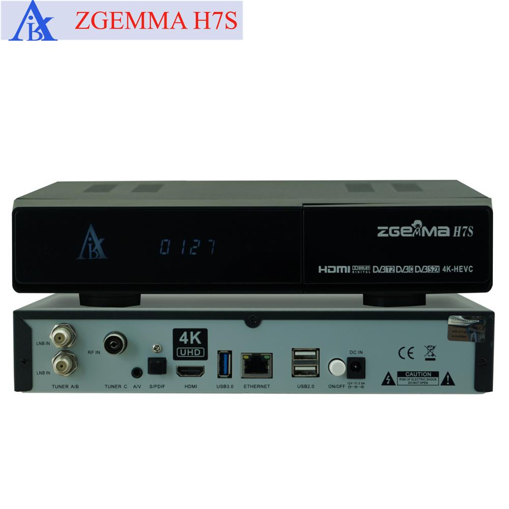 Zgemma 4k Satellite Receiver Hevc H 265 Zgemma H7s With 2*dvb-s2x +  Dvb-t2/c Multistream Tuners - Buy Zgemma H7s,Zgemma,4k Satellite Receiver  Product