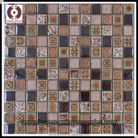 2014 new design glass and marble mosaic