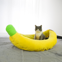 Banana Soft Wasbare Hond Kat Warme Mand Huisdier <span class=keywords><strong>Bed</strong></span> met Afneembare Kussen huisdier <span class=keywords><strong>bed</strong></span> <span class=keywords><strong>banaan</strong></span> kat sofa hond <span class=keywords><strong>bed</strong></span>