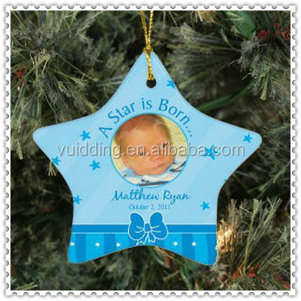 Winter Style Blue Christmas Ornament For Christmas Tree Decoration