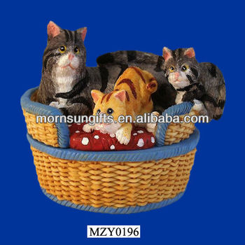 resin Sale Basket Buy New Handmade Vintage Cats Hot Crafts 4L5R3jAq