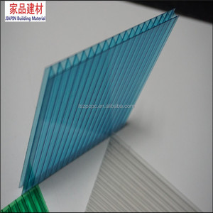 UV resistance 4mm blue polycarbonate hollow sheet