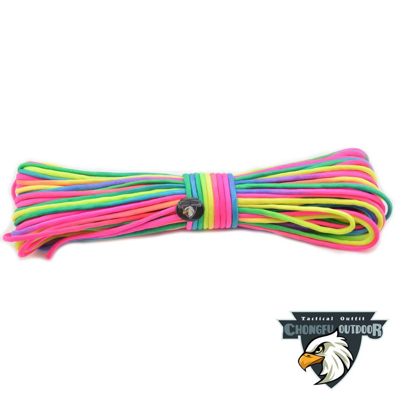 2017 new colorful rainbow cord tie dye style type III 7 strand 550 rainbow paracord