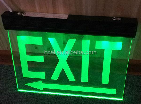 New Acrylic Led Hanging Emergency Exit Sign