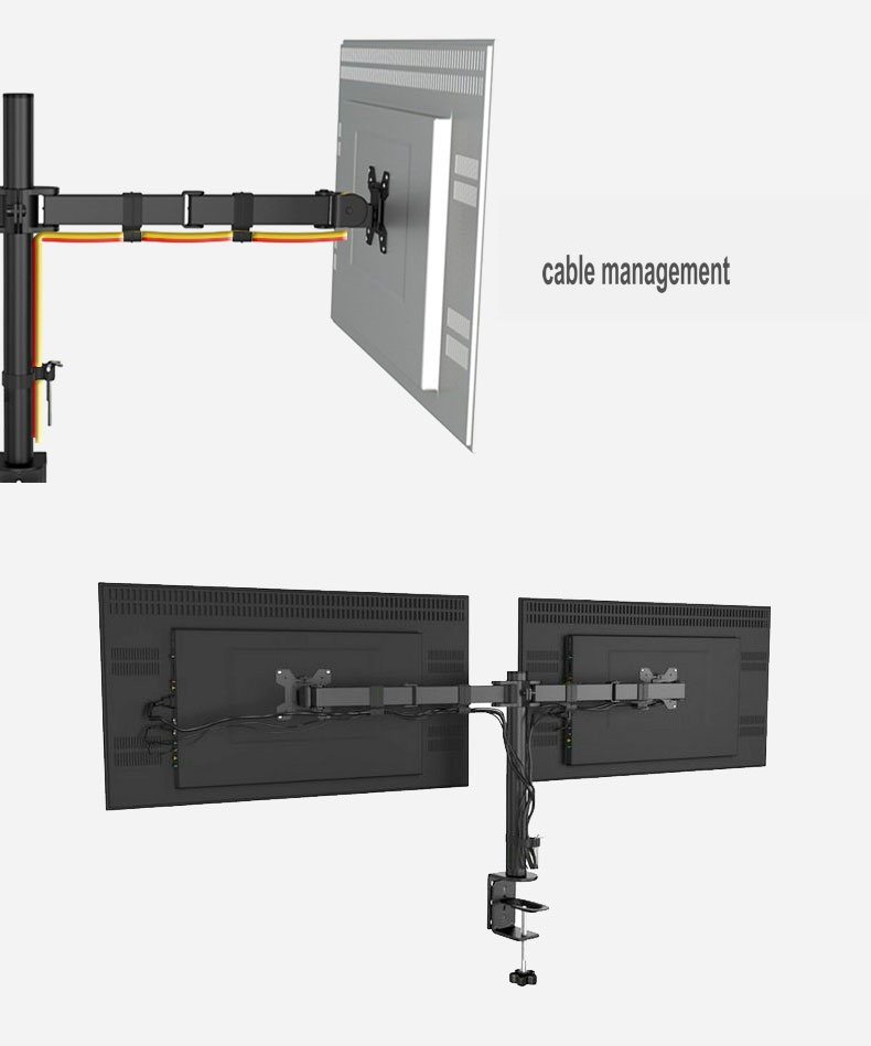 New Metal Desktop Dual Lcd Stand Monitor Mount