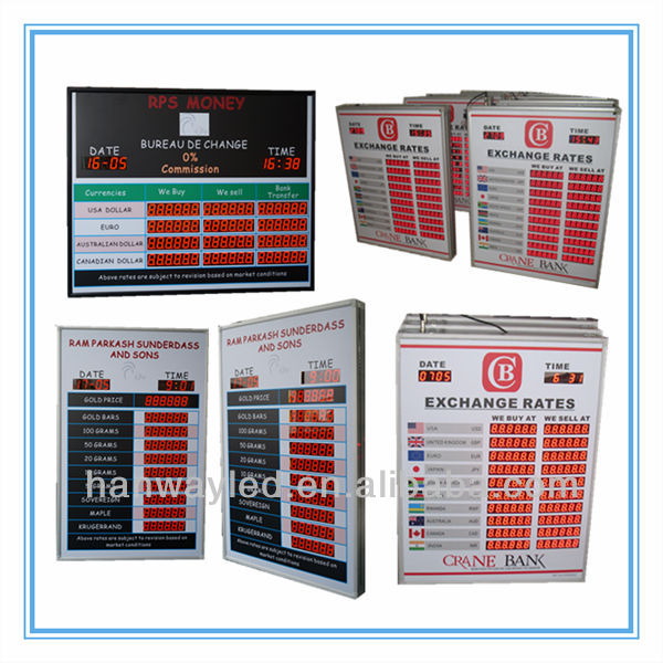 Led Currency/ticker/exchange Rate Led Display Screen /outdoor Waterproof  Currency Exchange Rate Board - Buy Exchange Rate Board,Currency Bank  Exchange