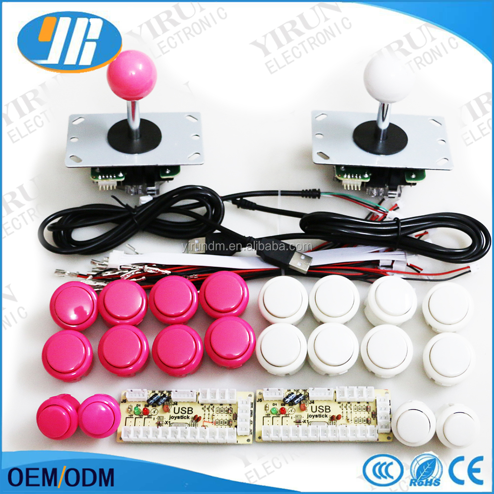 Arcade Accessory Zero Delay USB Encoder to PC joystick with high quality joystick and push buttons for arcade DIY