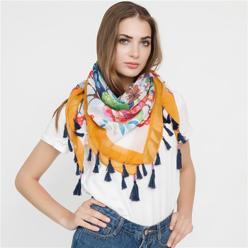 2019 Cherry and Roses Printed Scarf Women Polyester Scarf Wholesale