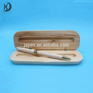 best christmas gift set High quality engraving/printing custom logo promotional wooden ball point pen box set