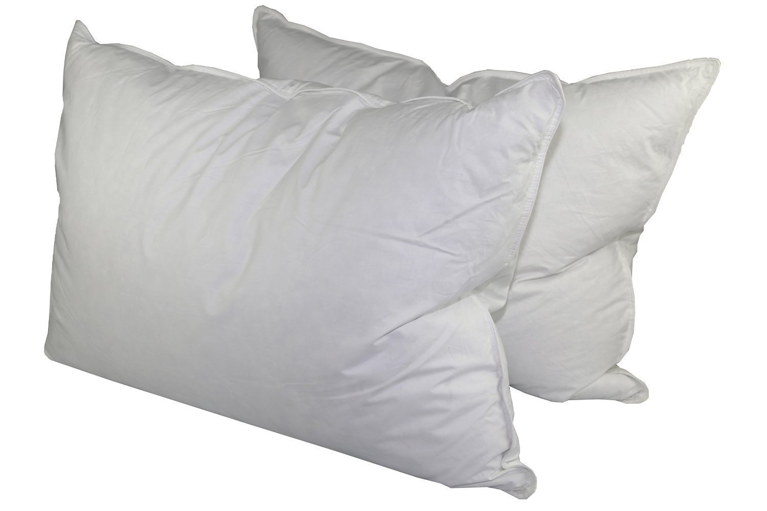 Good Get Quotations · 75% White Goose Feather / 25% White Goose Down Queen Pillow  Set (2