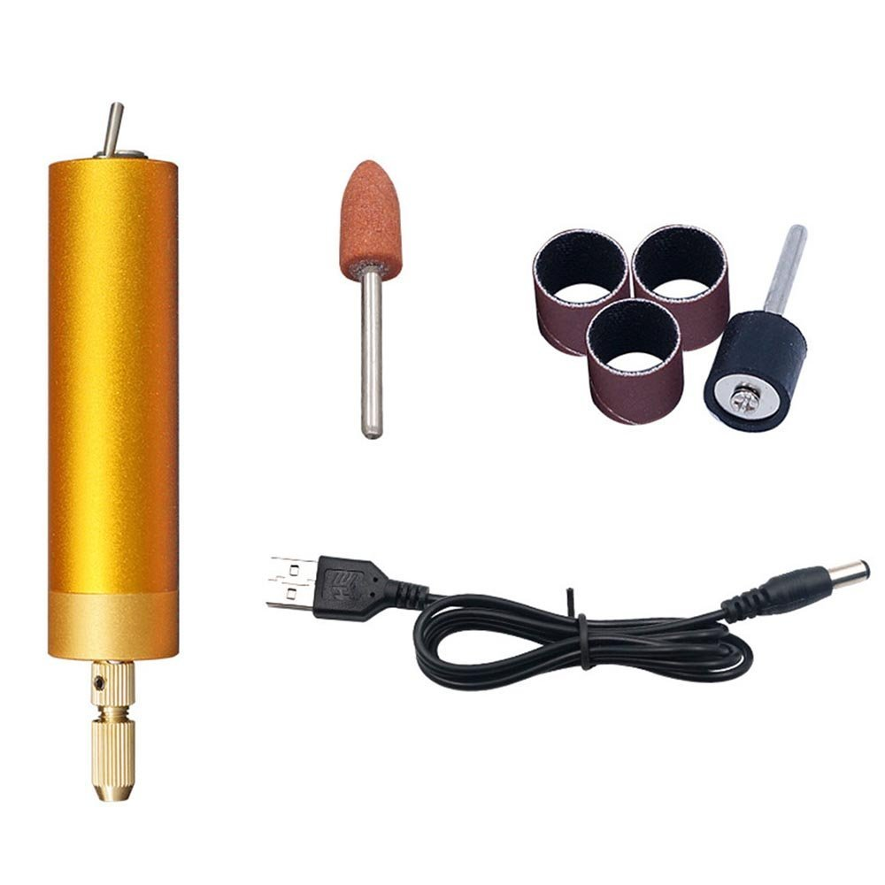 Micro Drill Small Hand Electric Power Drill Handheld Mini,Micro Electric Drill Wood Craft Drill Chuck Tools Portable for Sculpture Grinder DIY Carft