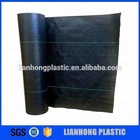 Black plastic weed barrier fabric, pp woven weed mat sheet, anti grass ground cover mats