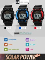 Skmei Solar Watch Instructions With Plastic Clock Face Cover Sport ...