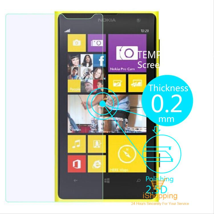 Ultra Thin 0.2mm Premium Explosion-Proof HD Clear Tempered Glass Screen Protector Film for Nokia Lumia 1020 With Retail Package