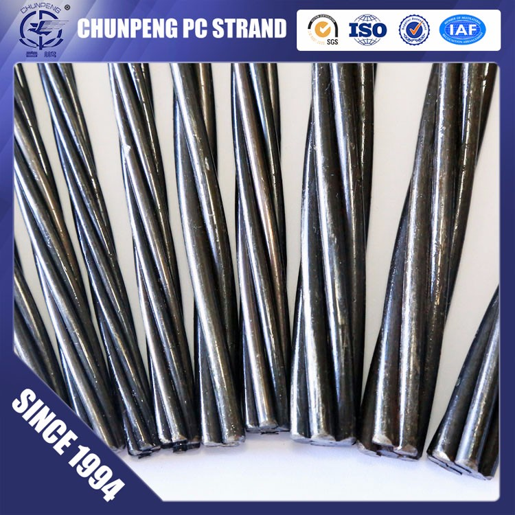 7 vein 82B 15.24mm 0.6inch prestressed strand wire for double tee beam