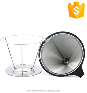 Coffee And Tea Tools Super Fine Micro Mesh Filter Strainer Reusable Stainless Steel Coffee Filter