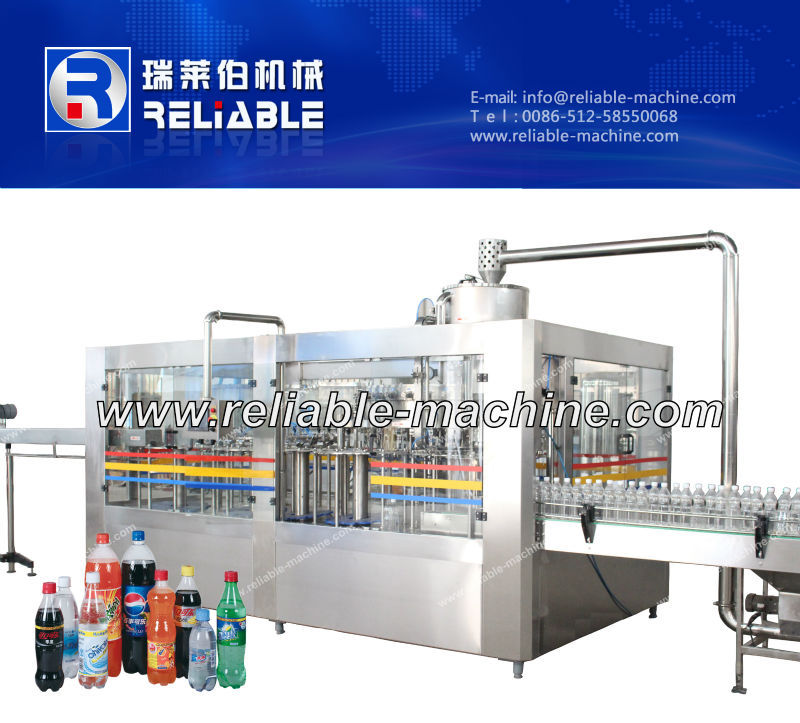 Carbonated Water Sparkling Water Filling Machine / Bottle Water Production Line