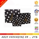 luxury black Gold foil polka dot gift paper carry bag with gold stamping logo