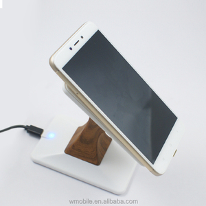Best selling products 2018 wooden Qi wireless charger 5V 2A fast charging with cable