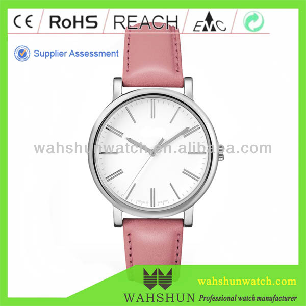 The most popular design custom own logo geneva women watches pu leather