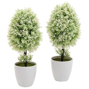 Plastic Artificial Plants Small Synthetic Trees in Planter Pots